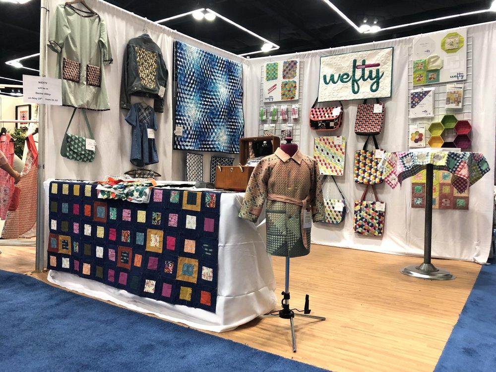 WEFTY at International Quilt Market, Spring 2018, Portland Oregon.