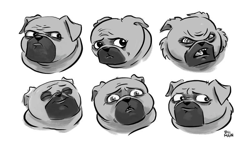 Billy J. Fletcher expression sheet