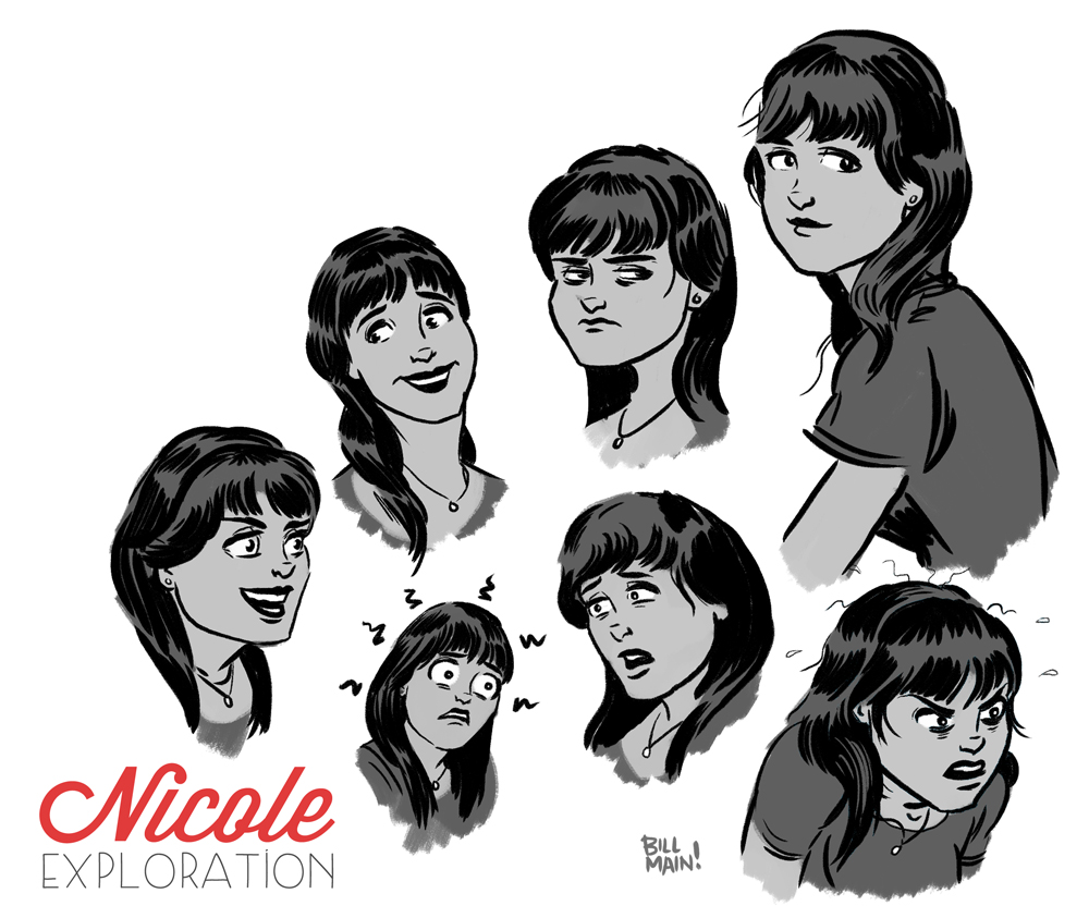 Character exploration for Nicole.