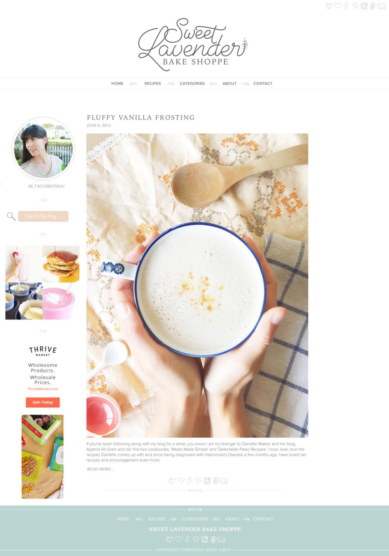 User Interface Mockup for Sweet Lavender Bake Shoppe