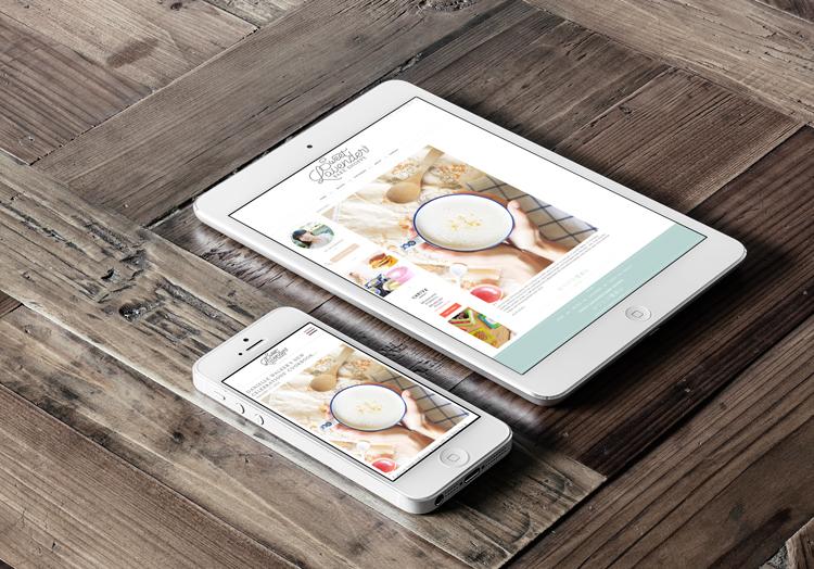 Mobile mockup for Sweet Lavender Bake Shoppe