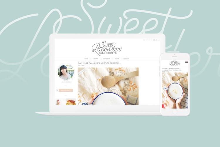 Mobile vs. Desktop versions of Sweet Lavender Bake Shoppe