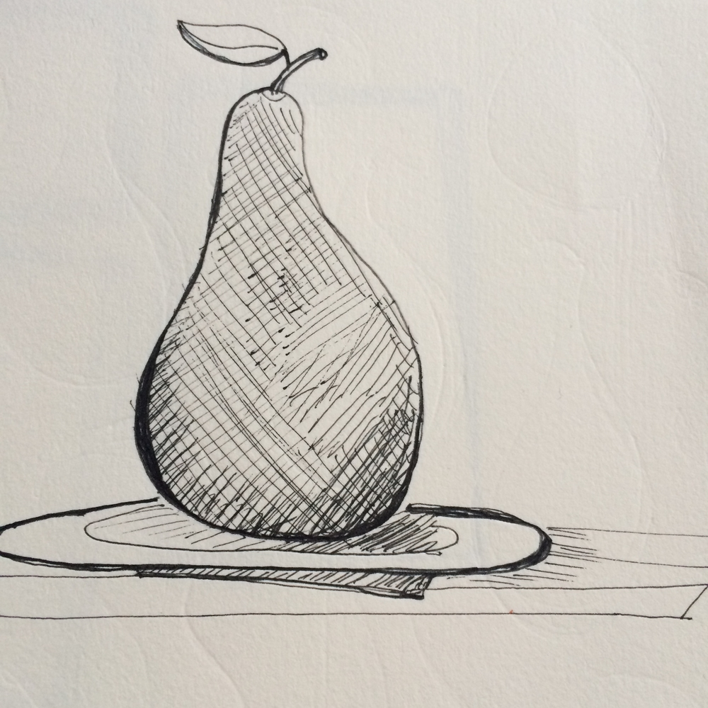 Scratchy pen pear