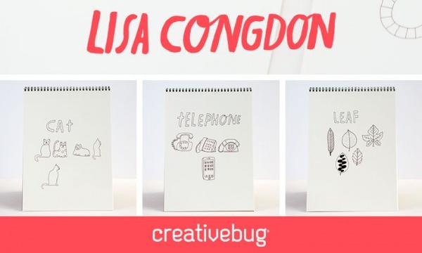 Lisa Congdon's Class brochure with Creativebug