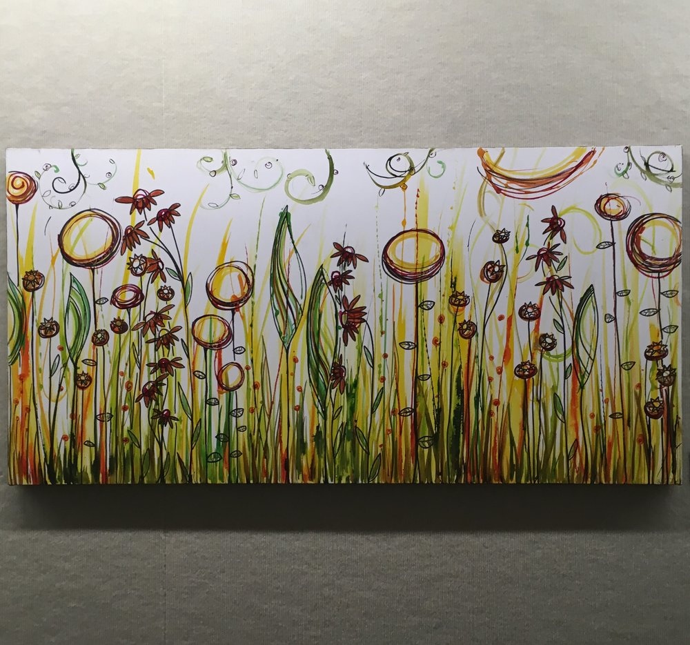 "Summer Thicket   24"" x 48"" on canvas  $500  SOLD"