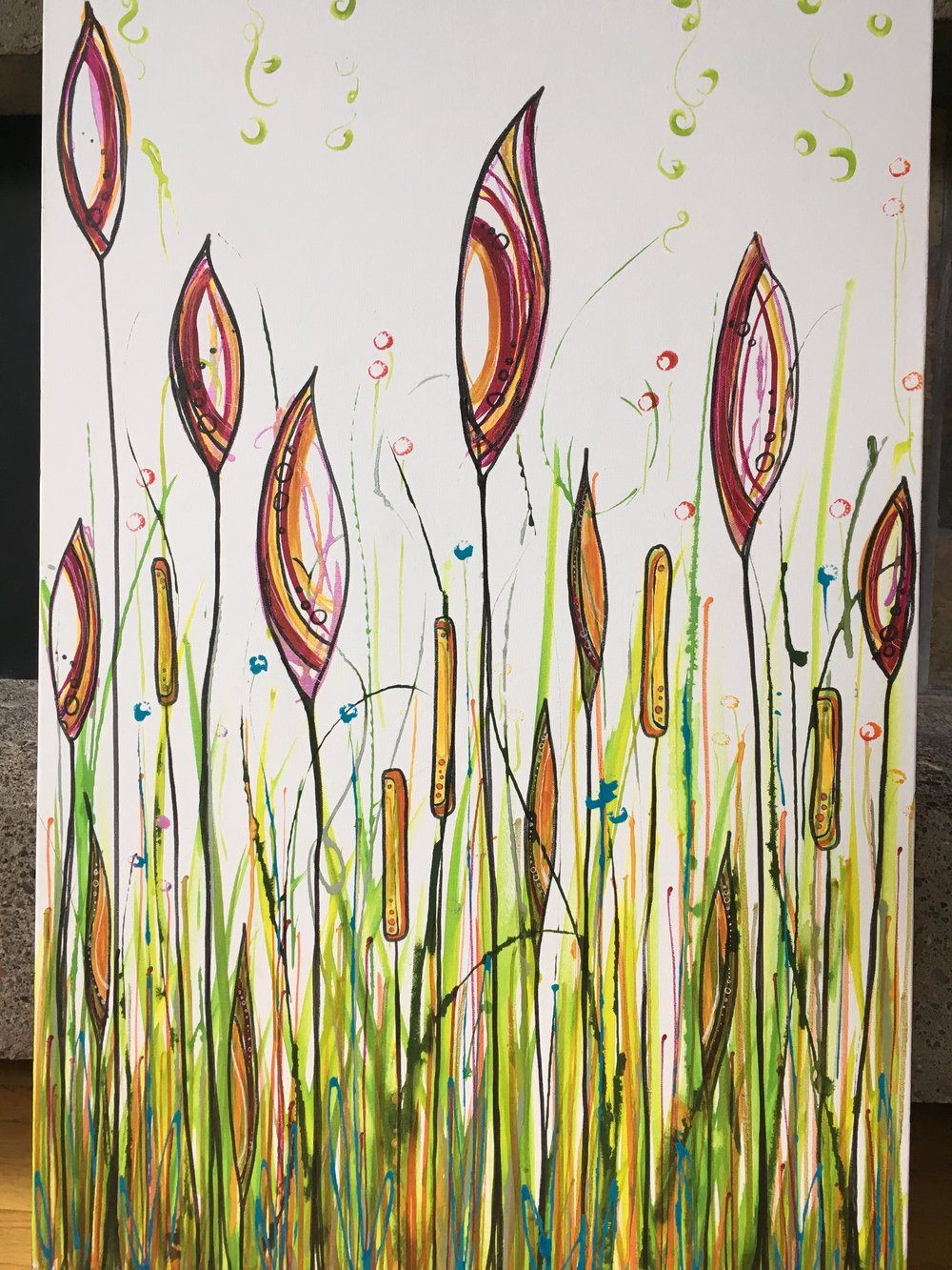 "Summer's Reach  24"" x 36"" on canvas  $375"