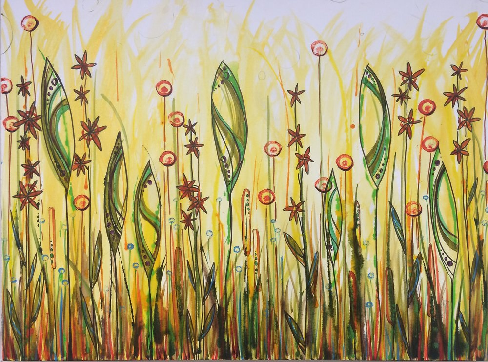 "Golden Swamp  30"" x 40"" on canvas  $475"