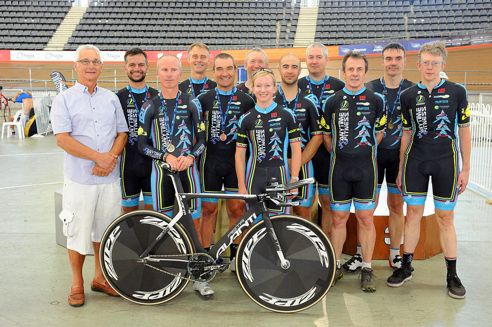 John Crouchley and the BiciSport Track Team at Dunc Gray Velodrome February 15