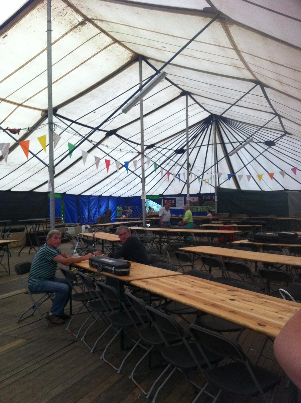 Molenhoek kermis beer tent (and rider registration)