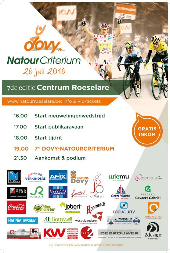 Post Tour de France Criteriums are in Flanders over the next week in Aalst, Roeselare, Lommel, St Niklaas & Antwerp