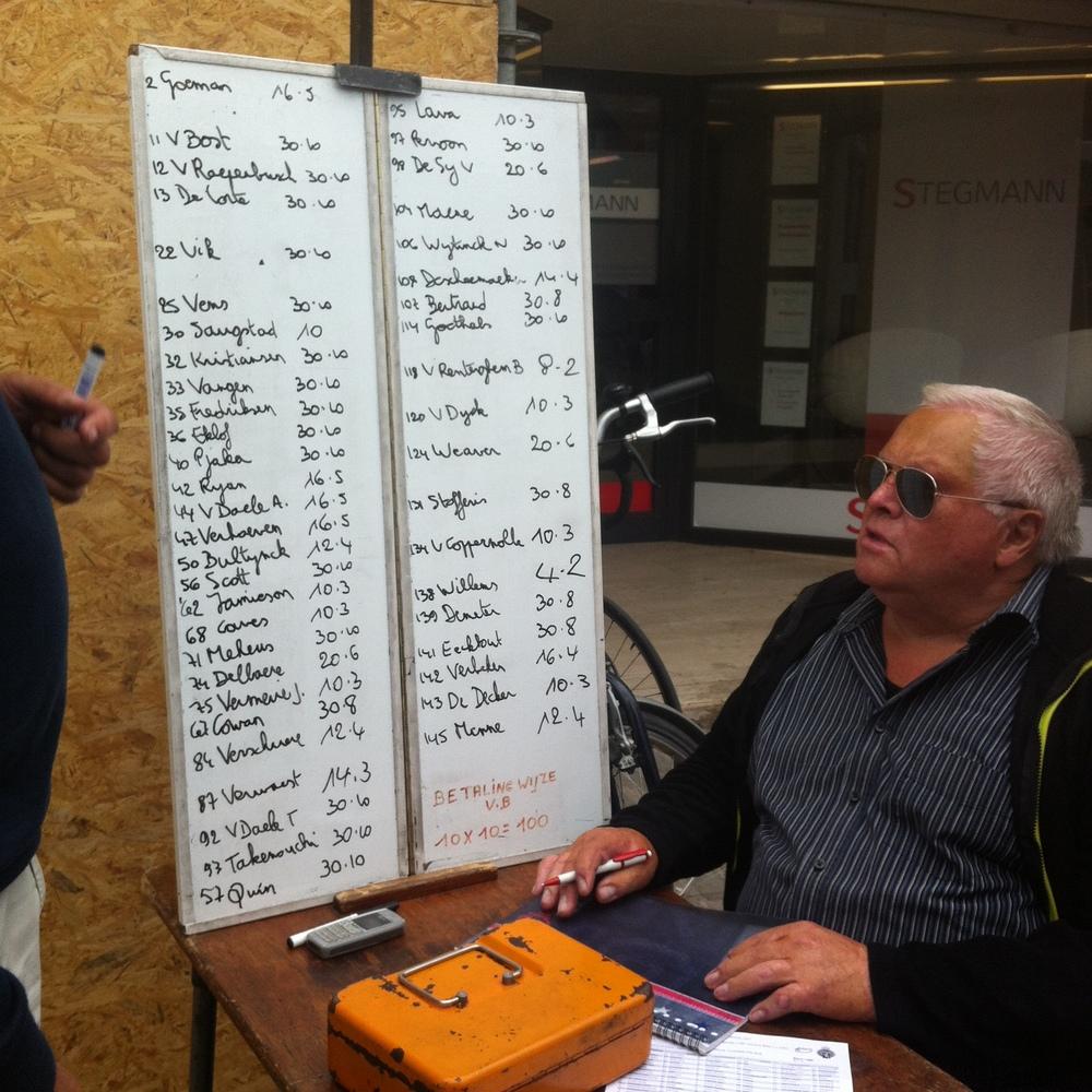 Deinze bookmakers betting on the Kermis races is common in Belgium