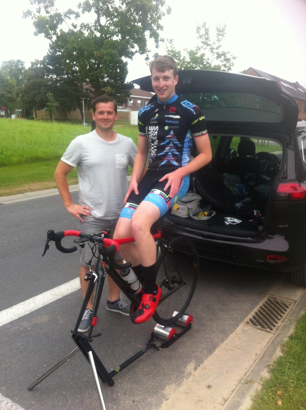 Maarten Verhulst & Conor before the Bazel start