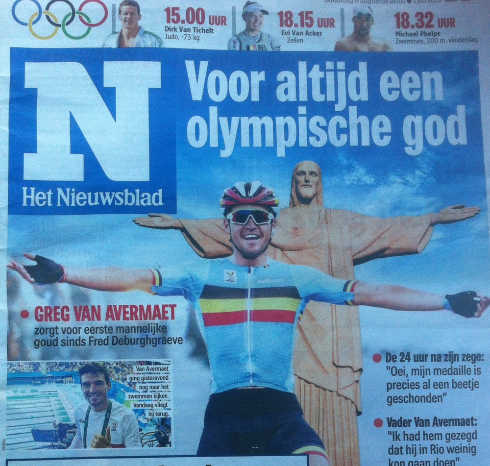 GVA won Olympic Gold and Het Nieuwsblad liked the result.