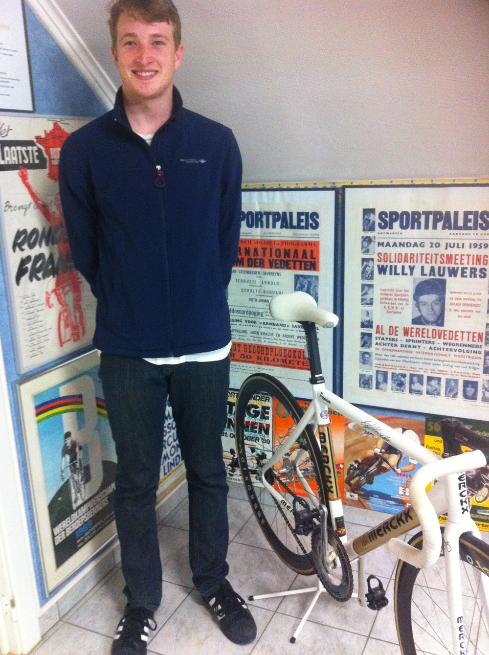 In amongst the countless posters was the last Eddy Merckx track bike used by Matthew Gilmore. Sweet.