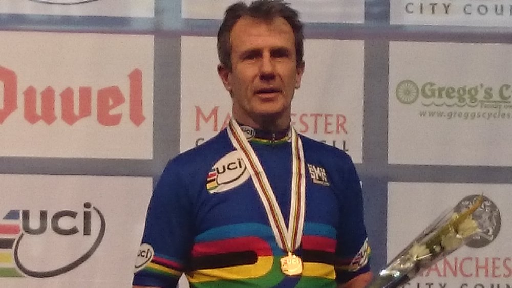 David Willmott at the Manchester World Masters Track Championships 2014