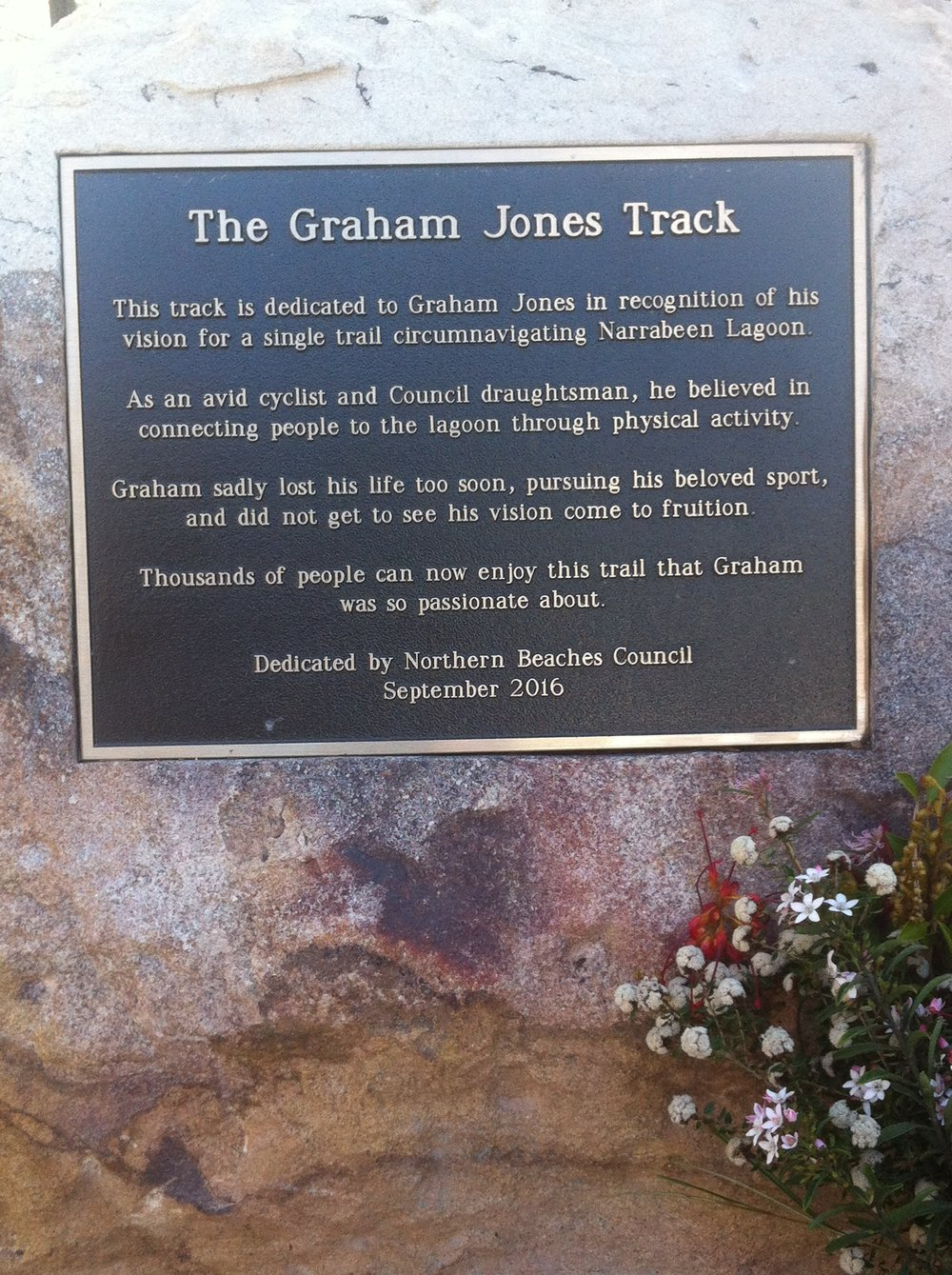 Graham Jones Monument on the Narrabeen Lagoon Walk