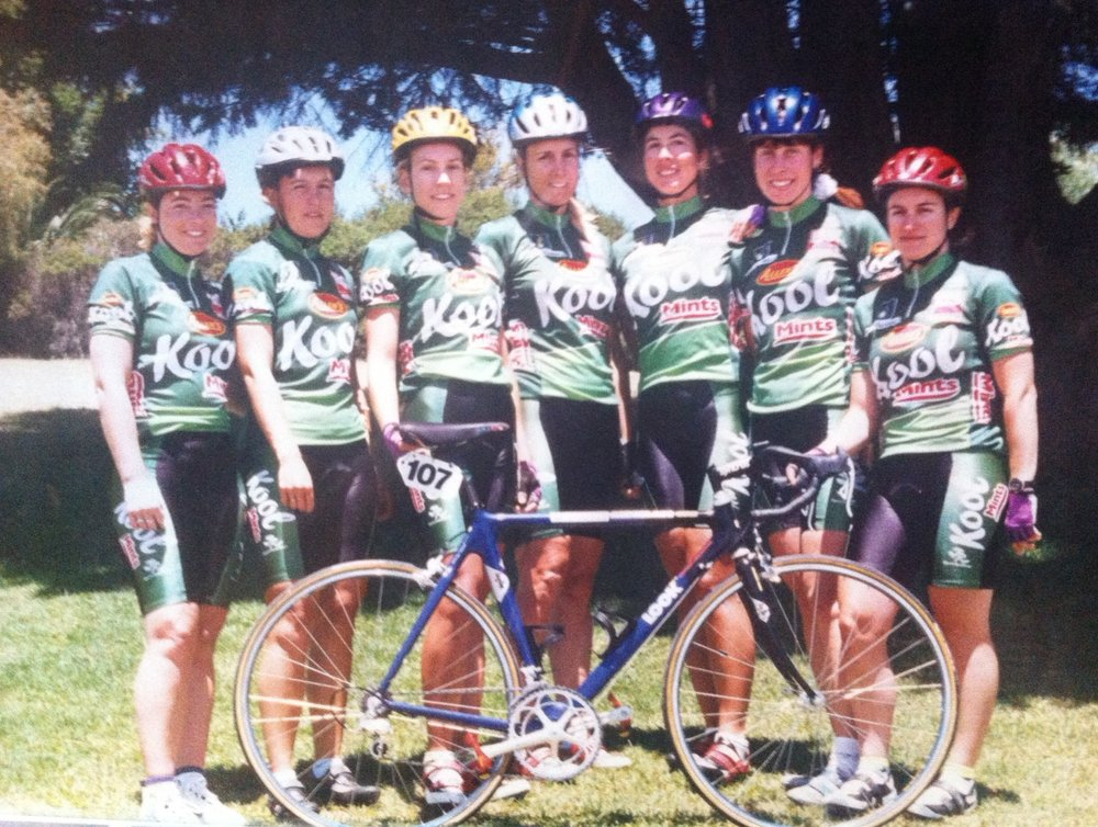 BiciSport - Kool Mints Team (Bay Crits Melbourne). BiciSport was one of the first womens teams to attract corporate sponsorship to the Bay Crit Series.