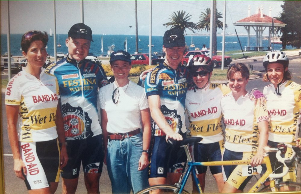BiciSport - Band Aids Team with Lars Michelson & Stephen Hodge (Festina) (Bay Crits Melbourne)
