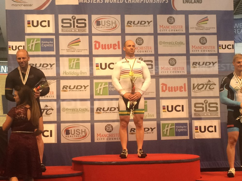 Manchester - Mike Smith (World Masters Sprint Champion M4 Category)