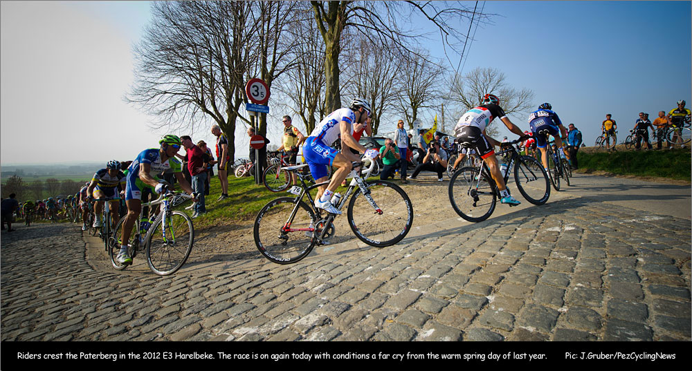 Ok, its not Bowral but a great picture from the top of the Patersberg at the E3 Harelbeke in Flanders