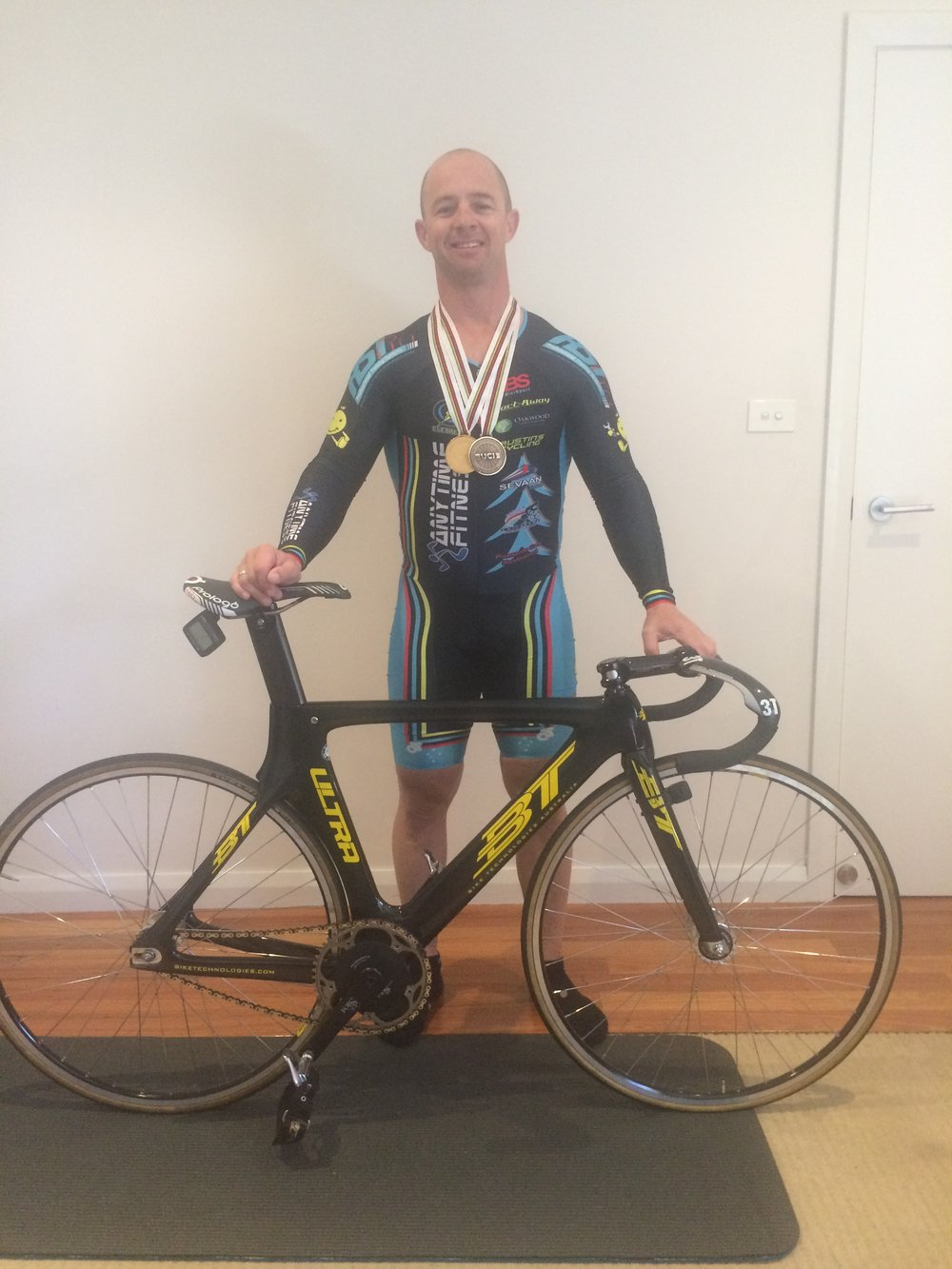 Manchester - Mike Smith (Gold Medal in Sprint, Bronze in Team Sprint)