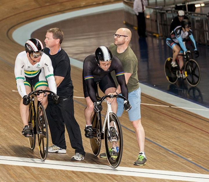 Manchester Masters World Track Championships October 16 - Mike Smith (left) on the start line