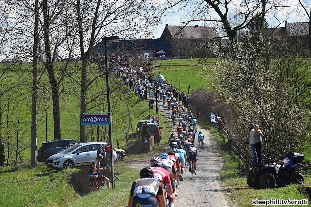 The Haaghoek cobbles outside Oudenaarde feature in every Flemish Spring Classic