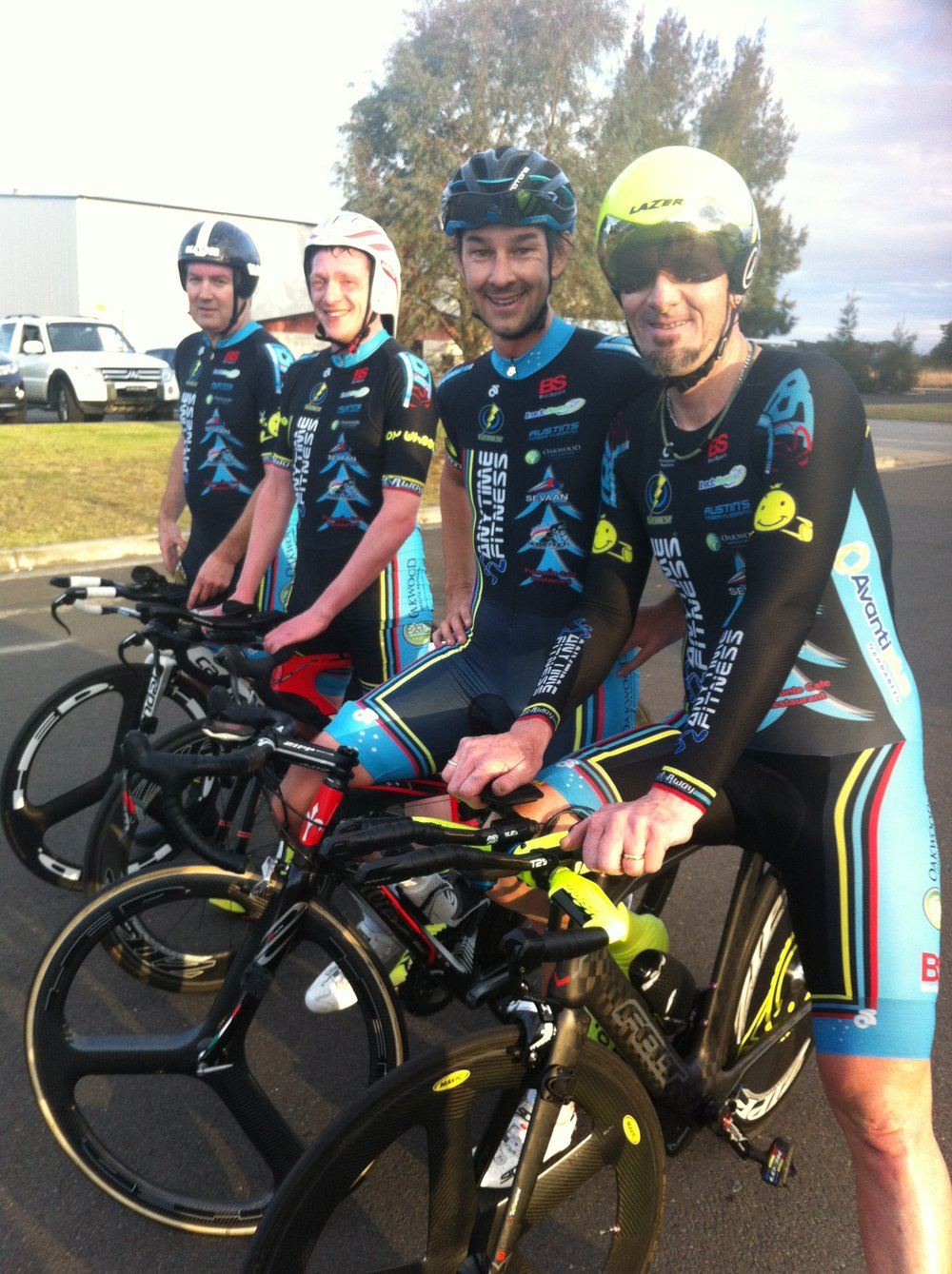 NSW Team Time Trial Championships Nowra July 2016 - Mike O'Brien, Tom Green, Ian Cocks & Stewart Campbell