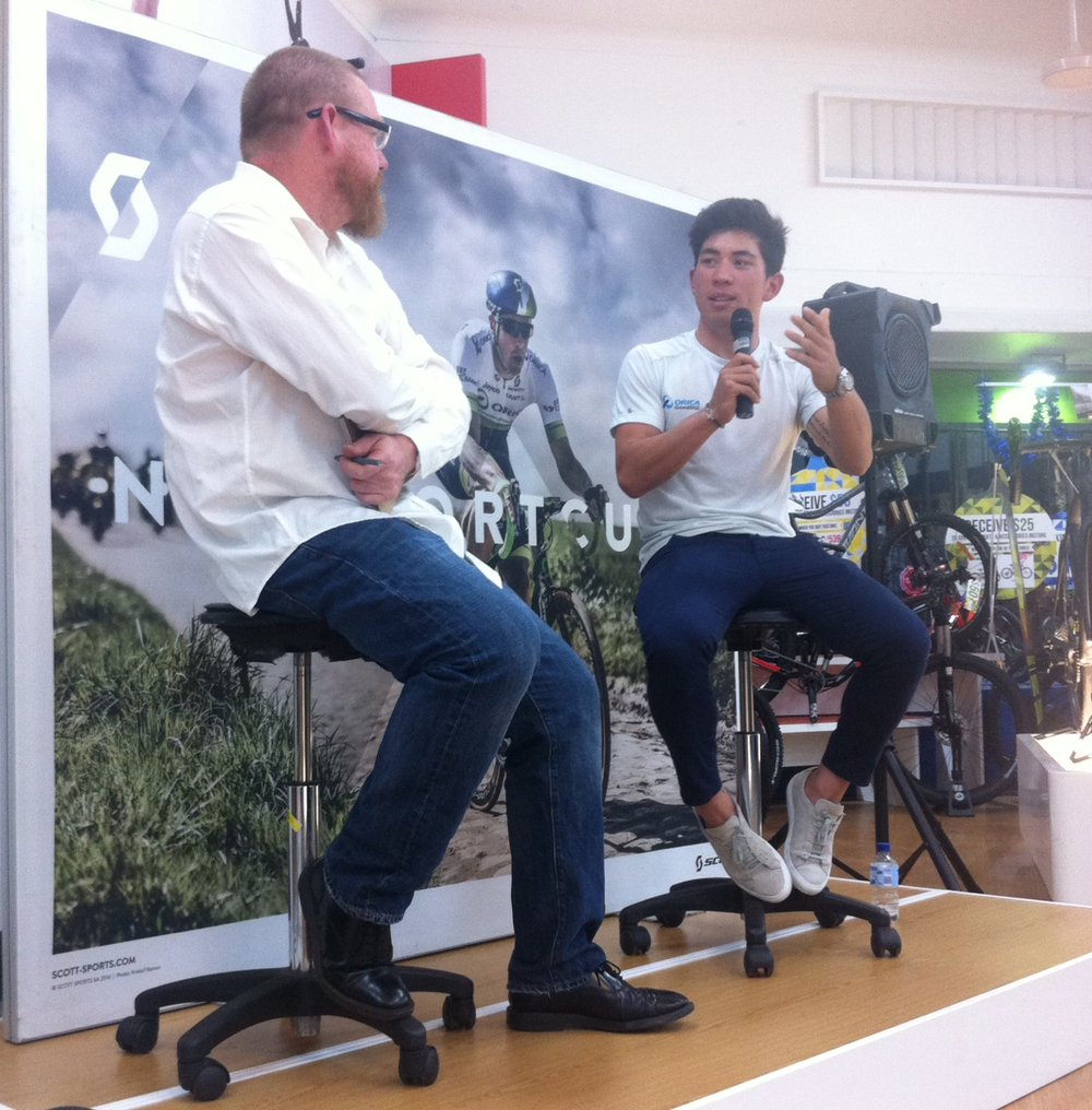 Paul Craft & Caleb Ewan at AvantiPlus Narrabeen. Crafty did a great interview with Caleb.