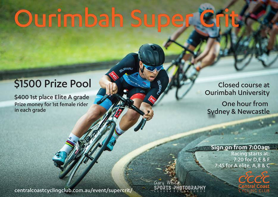 Ourimbah Super Crit is on February 12 and organised by Central Coast CC