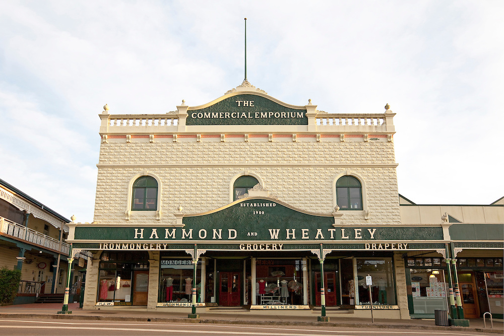 The historical Hammond & Wheatley Emporium in Bellingen