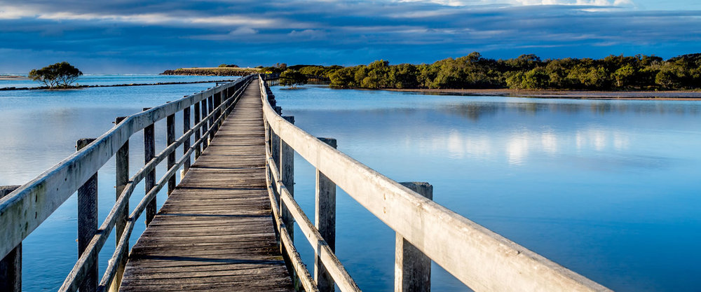 The Urunga Boardwalk is not far from our resort.