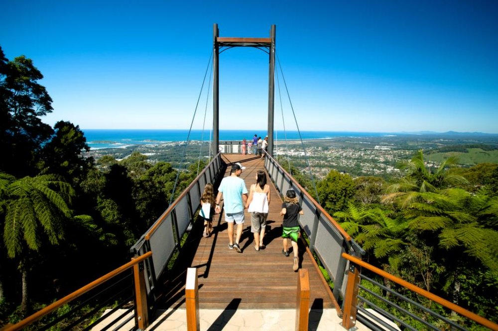 The Sky Pier provides panoramic views of the Coffs coastal region