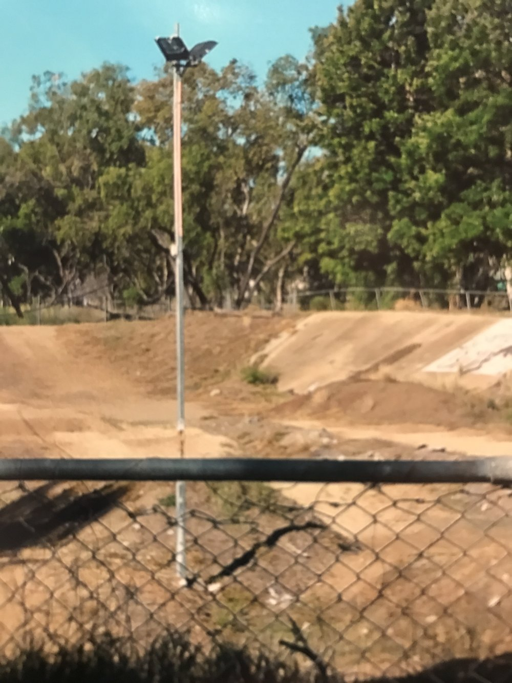 Canterbury CC Reunion - If the Moree Velodrome was in poor condition then its in worse shape now. This picture was taken some 6 weeks ago showing the velodrome banking.