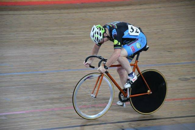 National Masters Track 2017 - David Browne in the M3 Sprint Qualifying