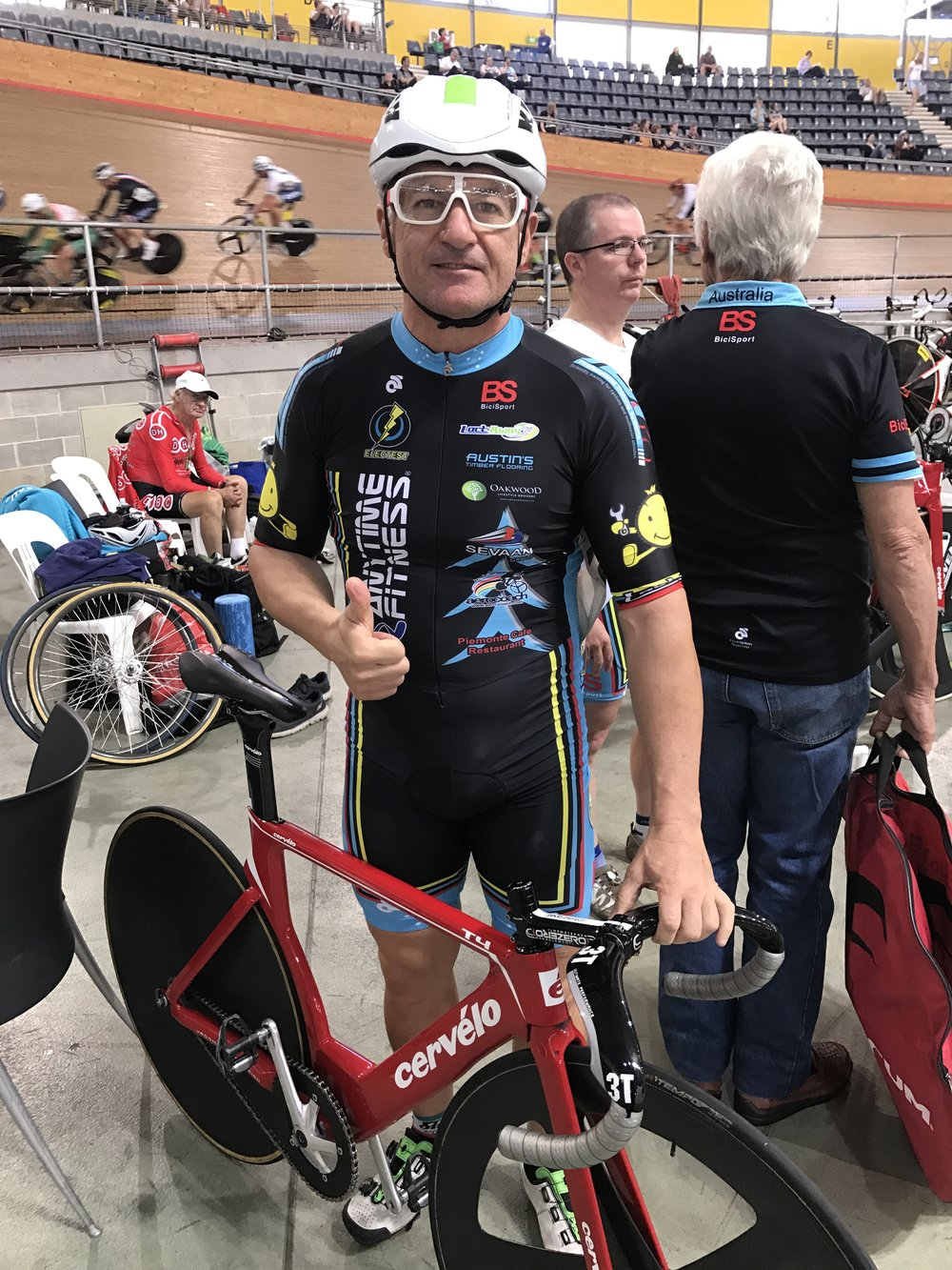 National Masters Track 2017 - Anthony Colantonio before the M6 Pointscore
