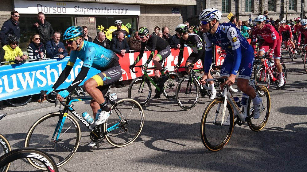Ghent Wevelgem 17 - The Deinze start offered a great opportunity to see the whole pro peloton cruise down to the sign on.  Tom Boonen, GVA & Peter Sagan received the biggest crowd support.