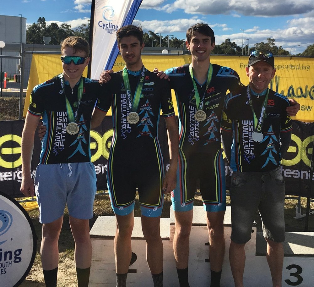 Nowra 17 - Sassafras Challenge Elite Team on the TTT podium