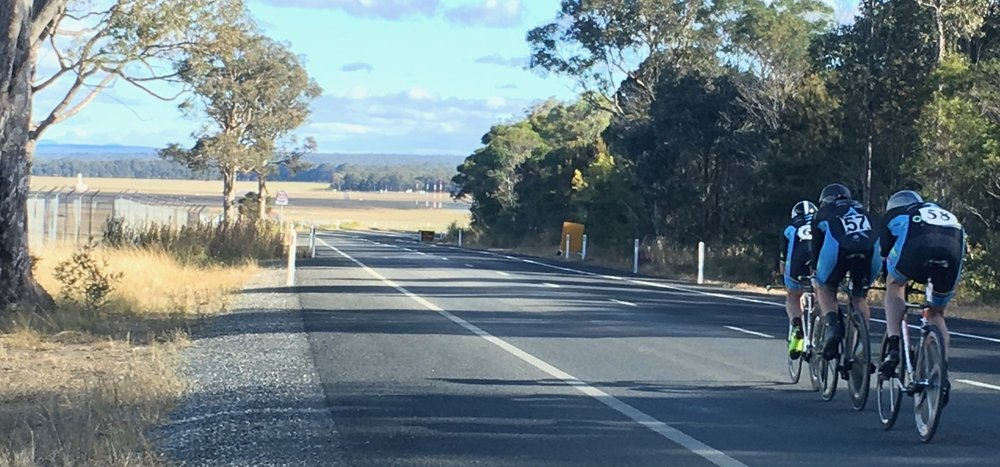 Nowra 17 - 150 + team led by the Stewart Campbell express headed for Nowra Airport. The team finished 6th