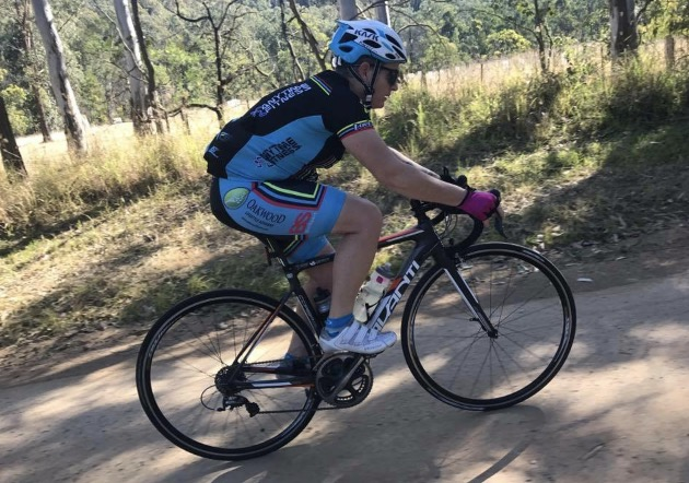 Women's Rapha 100 - Kirsty Flanagan outside Wollombi