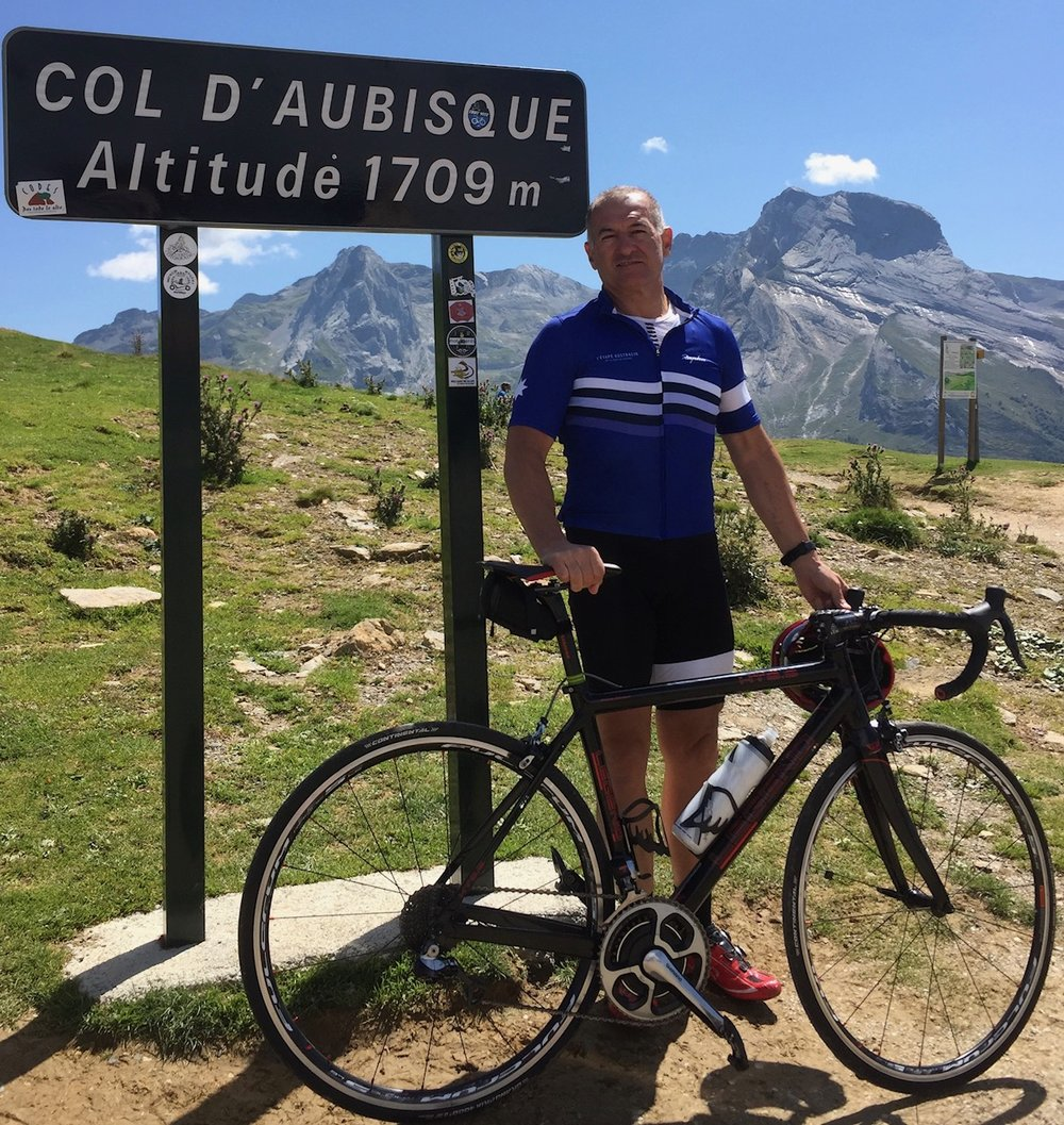 D'Aubisque 17 - Anthony Colantonio having already climbed the Col du Tourmalet then the Col D'Aubisque was next on the bucket list