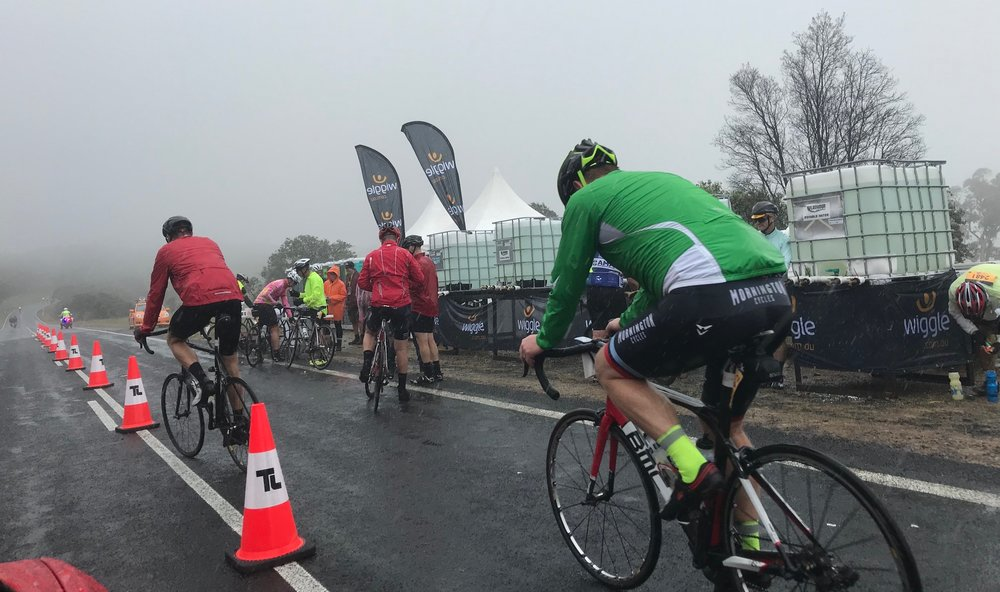 Etape 17 - Across the top of the Dalgety Climb at Beloki and it was bleak in driving rain & heavy fog