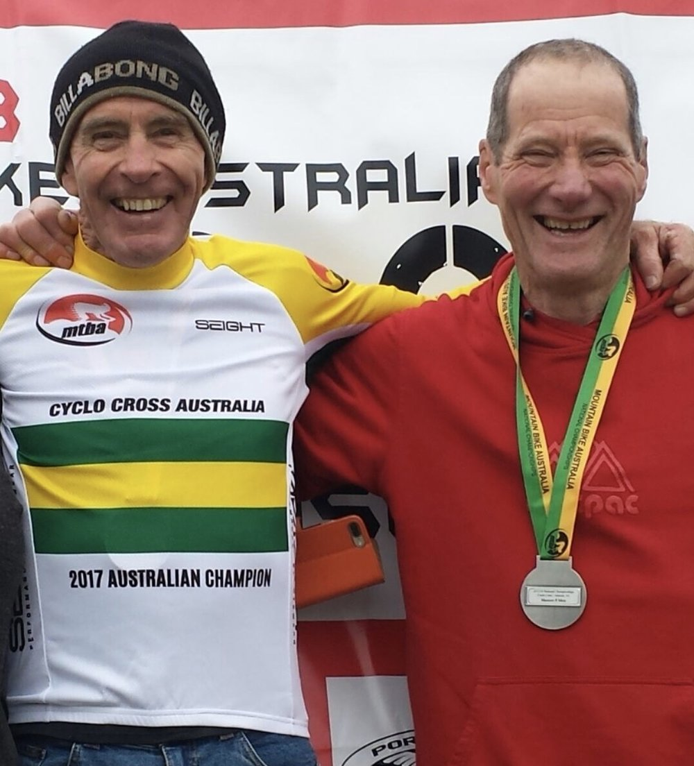 MTBA National Masters Cyclo Cross Championship August 17 - Mike Lawson took a Gold medal.