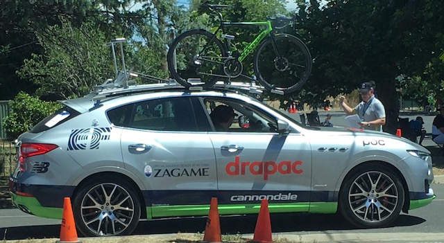 Cycling Australia National Road Championships @ Ballarat 2018 - Best Team Car Award at the Time Trial undoubtedly goes to  EF Drapac Cannondale  with the latest Maserati 4WD