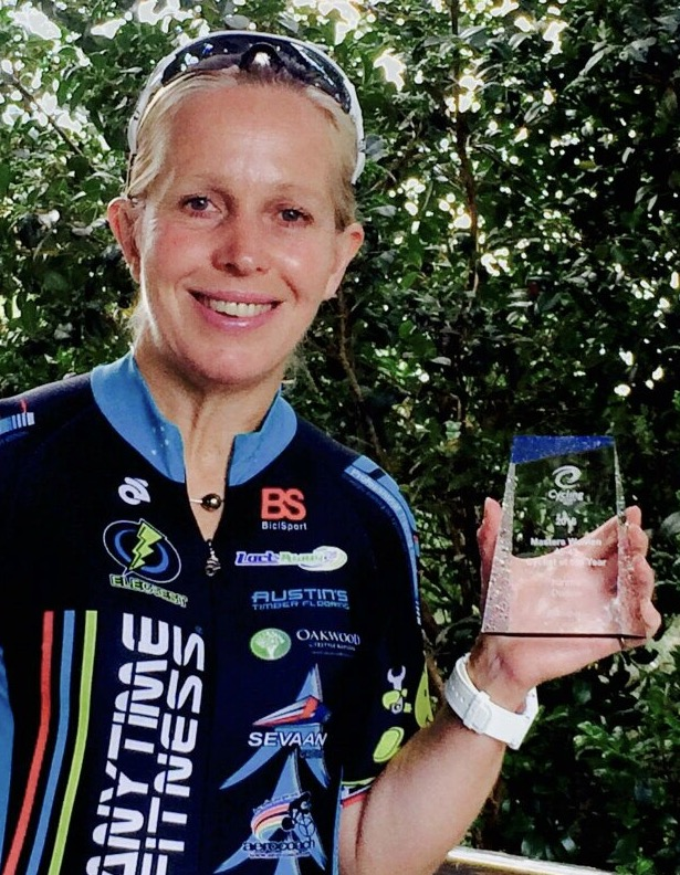 NSW Master Cyclist of the Year awarded to Kirstie Dolton in February 2017 (for the 2016 season)