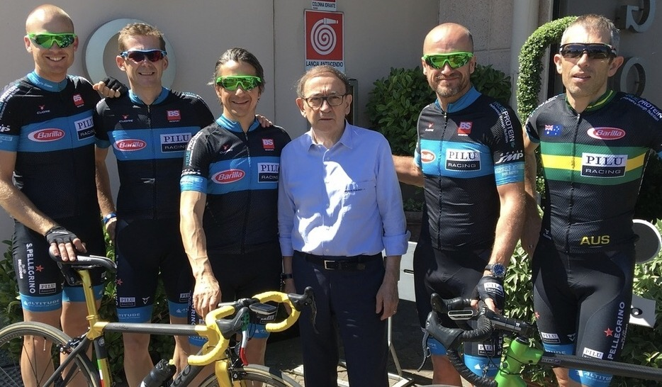 BiciSport Pilu Racing with Ernesto Colnago