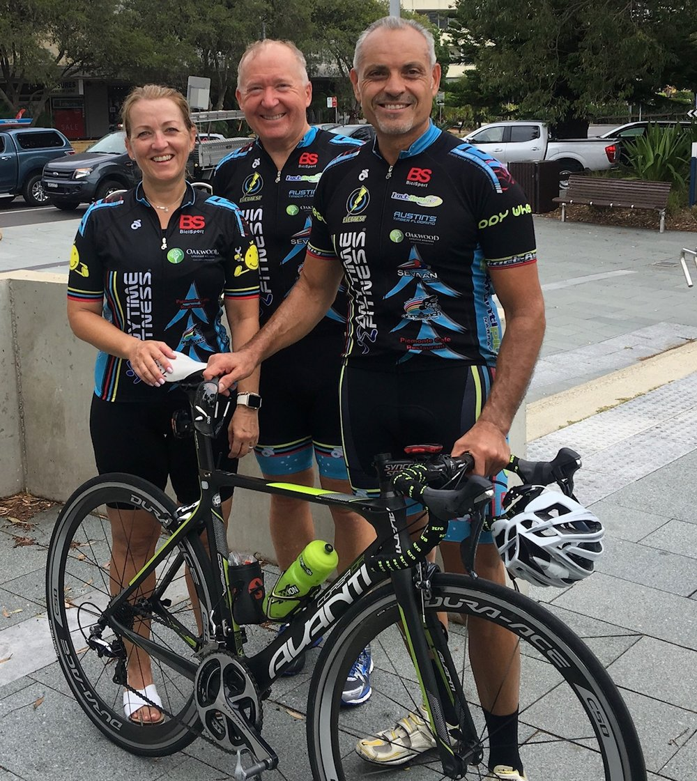 Australia Day Ride January 18 - Stephanie Cockerton, Graham Cockerton & Dominic Zumbo
