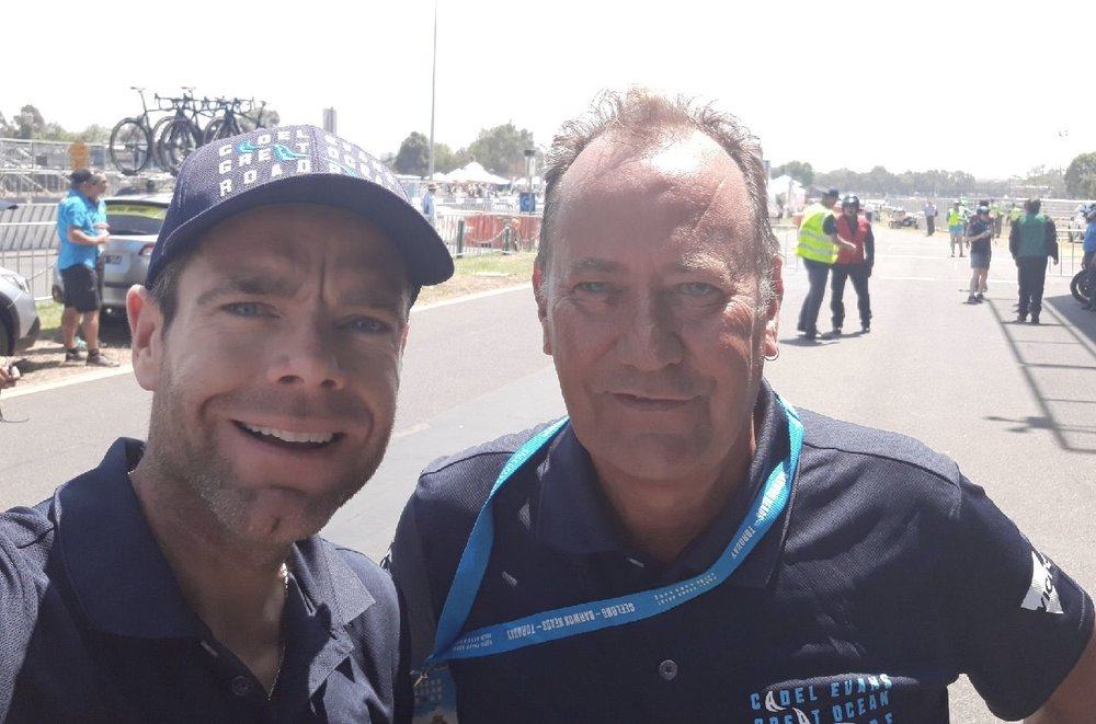 Zero Melbourne Road Race 18 - Cadel Evans with John Elderfield (BiciSport)