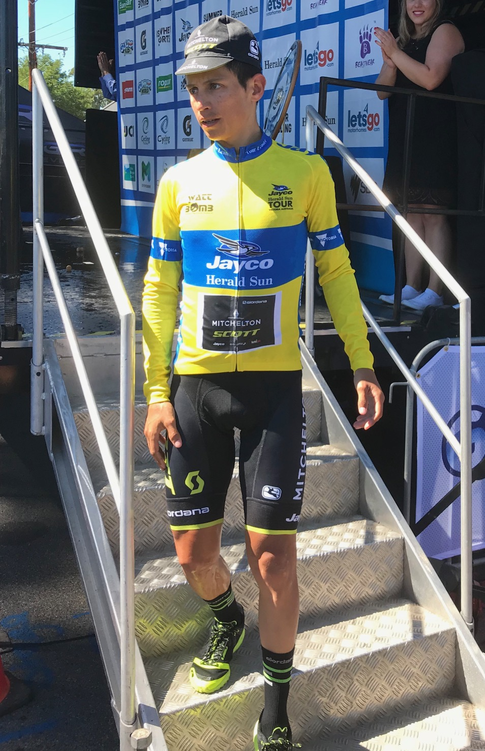 Herald Sun Tour 18 - Esteban Chaves was a hugely popular winner at Kinglake (photo MOR)