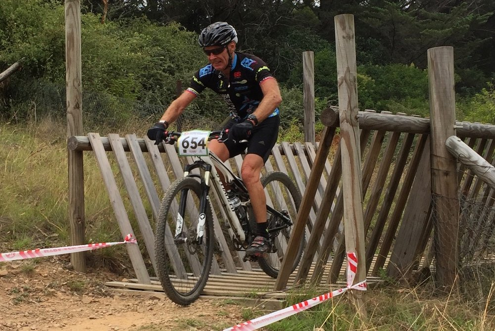 National MTB Championships @ Armidale @ 24 Feb - Mike Lawson (BiciSport) on the way to 4th place in M7 category